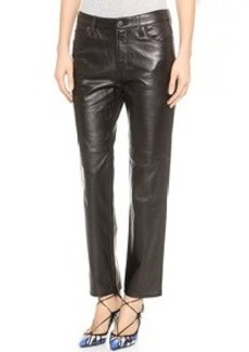 J Brand Casey Leather Boyfriend Pants