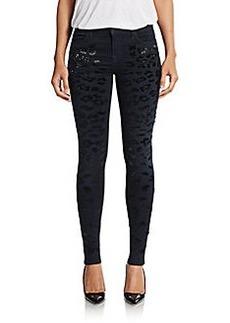 J Brand Claudette Embellished Super-Skinny Jeans