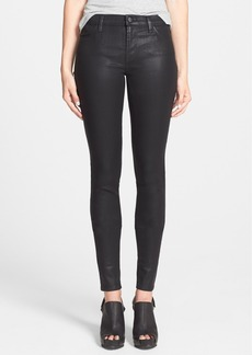 J Brand Coated Mid Rise Stacked Skinny Jeans (Fearless)