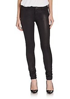 J Brand Coated Mid-Rise Super-Skinny Jeans