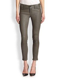 J Brand Cropped Leather Skinny Jeans