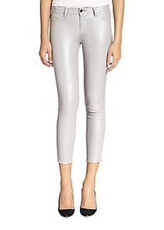 J Brand Cropped Stretch-Leather Leggings