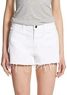 J Brand Cutoff White Denim Shorts