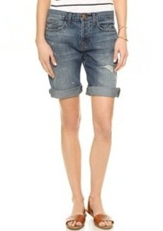 J Brand Dani Mid Rise Relaxed Bermuda Shorts