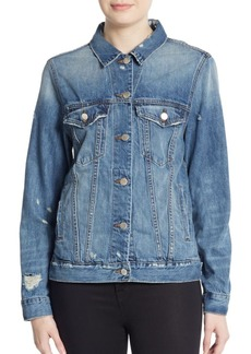 J Brand Darci Distressed Denim Jacket