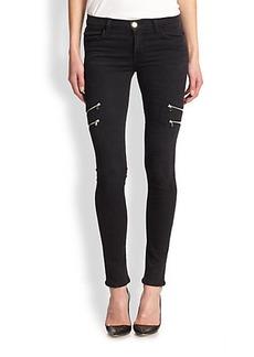 J Brand Dee Zip-Pocket Skinny Jeans
