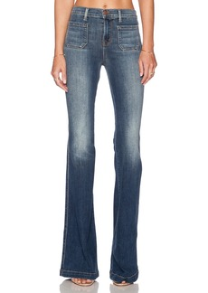 J Brand Demi High Rise Patched Pocked Flare