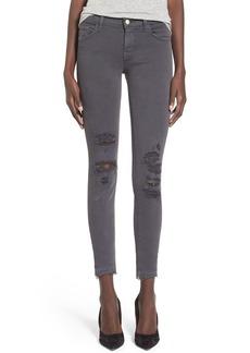 J Brand Destroyed Crop Skinny Jeans (Demented Grey)
