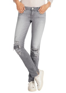 J Brand Destructed Mid Rise Jeans (Sweet)