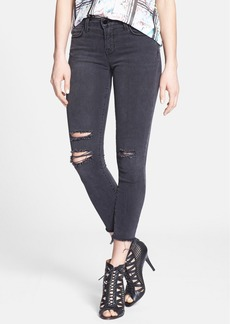 J Brand Distressed Crop Skinny Jeans (Mercy)