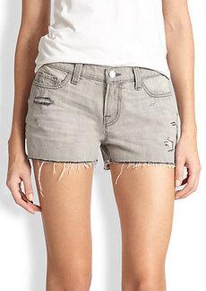 J Brand Distressed Denim Cut-Off Shorts