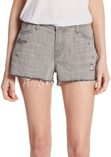 J Brand Distressed Low-Rise Denim Shorts