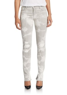 J Brand Distressed Straight-Leg Jeans