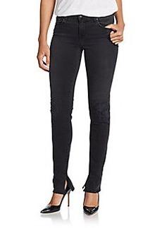 J Brand Distressed Straight-Leg Jeans