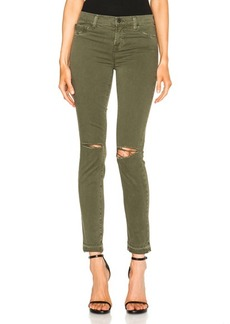 J Brand Mid Rise Ripped Skinny