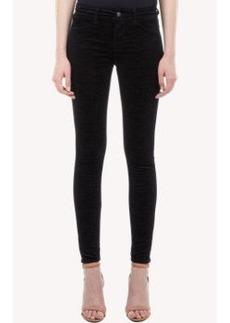 J Brand Embossed Velvet Jeans