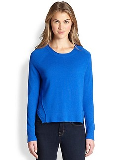 J Brand Eugenia Cashmere Split-Side Sweater