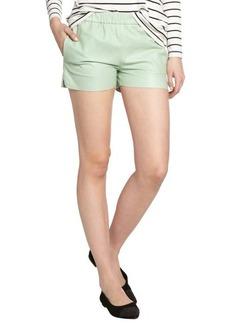J Brand foam lambskin leather 'Lynn' shorts