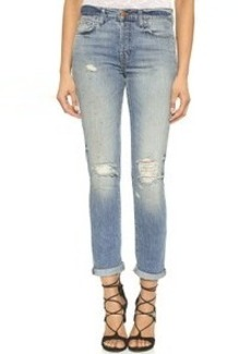 J Brand Georgia Mid Rise Slim Boyfriend Jeans