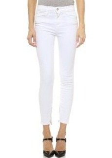 J Brand Hanna Zip Crop Skinny Jeans