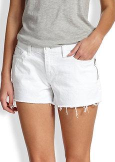 J Brand Hester Side-Zip Cut-Off Denim Jeans