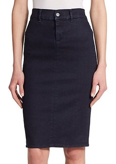 J Brand High-Rise Denim Pencil Skirt