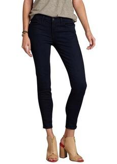 J Brand indigo stretch denim side zip 'Jewel' cropped skinny jeans