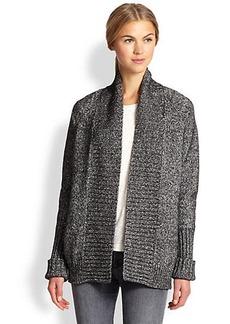 J Brand Ivanka Marled Cotton & Wool Cardigan