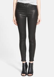 J Brand 'Jamie' Lambskin Leather Skinny Pants