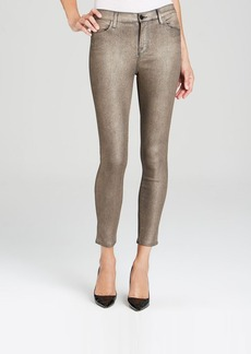 J Brand Jeans - Exclusive Stocking Alana High Rise Crop in Gold Dust