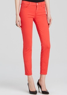 J Brand Jeans - Low Rise Ankle Skinny Dark Coral