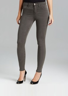 J Brand Jeans - Luxe Sateen High Rise Maria in Armour