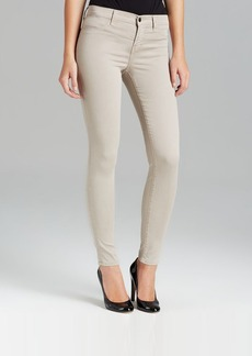 J Brand Jeans - Luxe Sateen Mid Rise Super Skinny in Concrete