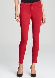 J Brand Jeans - Luxe Sateen Zip Hem Crop in Redburn