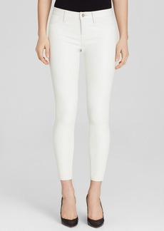 J Brand Jeans - Marie Zip Leather in Ghost White