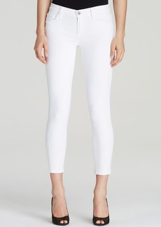 J Brand Jeans - Mid Rise Capri in Blanc