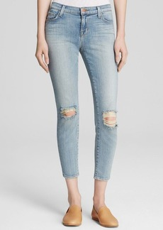 J Brand Mid Rise Crop Jeans in Dropout