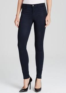 J Brand Jeans - Mid Rise Super Skinny Luxe Sateen in Blue Velvet