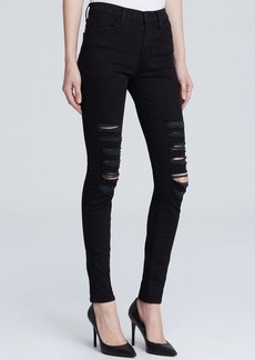 J Brand Jeans - Photo Ready Maria High Rise Destructed in Blackheart