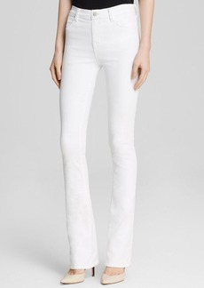 J Brand Jeans - Sateen High Rise Remy Slim Bootcut in White