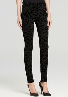 J Brand Jeans - Textured Ponte Legging in Black Cat