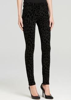 J Brand Jeans - Textured Ponte Legging in Black Cat