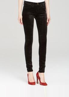 J Brand Jeans - Velveteen Mid Rise Super Skinny in Black
