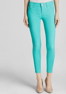 J Brand Jeans - Verde Stretch Leather Crop in Verde