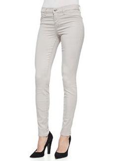 J Brand Jeans 485 Luxe Sateen Skinny Jeans, Concrete Dust
