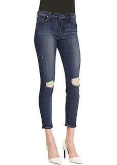 J Brand Jeans 835 Misfit Mid-Rise Destroyed Cropped Skinny Jeans