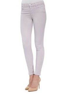 J Brand Jeans 8428 Cropped Zip-Hem Skinny-Fit Jeans, Light Purple
