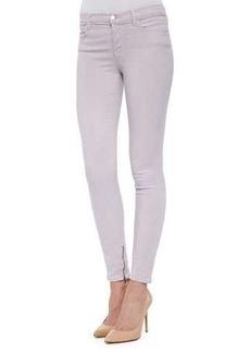 J Brand Jeans 8428 Cropped Zip-Hem Skinny-Fit Jeans, Light Purple