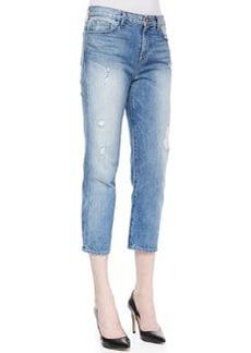 J Brand Jeans Ace Distressed Cropped Boyfriend Jeans