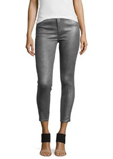 J Brand Jeans Alana Crop High-Rise Pants, Midnight Metal
